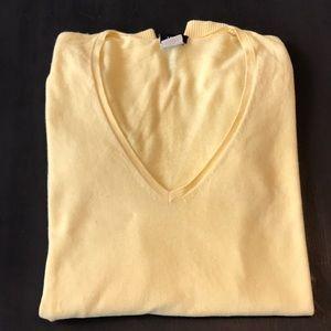 J.Crew v-neck cotton/cashmere sweater. Small